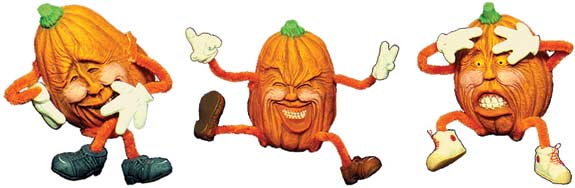#1803 Pumpkins with Attitude (3 in mold)  3