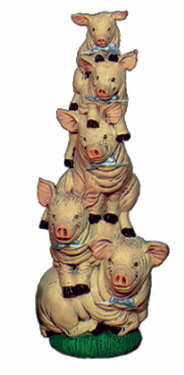 #1836 Stack of Pigs  9 1-4