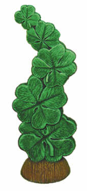 #1838 Stack of Lucky Clover  9 1-4