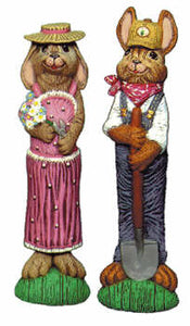 "#1843 Mr & Mrs Bunny Farmers  9 1-2"" each"