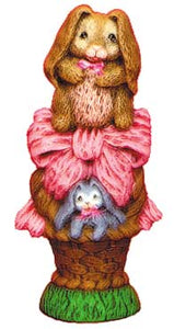 #1912 Stack of Bunny & Basket  8 3-4""