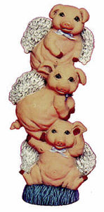 #1913 Stack of Angel Pigs  10""