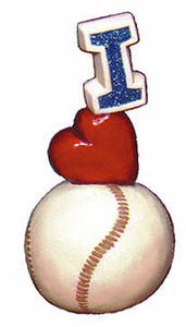 #1928 Stack - I (Heart) Baseball  7 1-2""