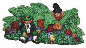 #1987 Leprechaun Centerpiece  9""