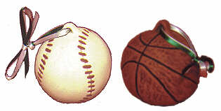 #2018 Baseball & Basketball Ornaments 2