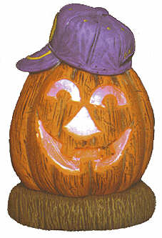 #2044 Pumpkins with Hats - Baseball  5 1-2