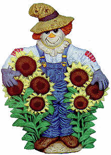 #2055 Scarecrow with Sunflowers  9