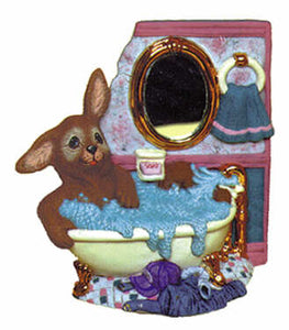 #2110 Bunny in Bathtub  6 1-2""
