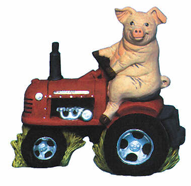 #2142 Pig on a Tractor  7
