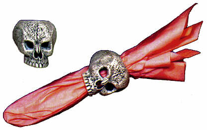 #2150 Human Skull Napkin Rings (2 in mold)  2