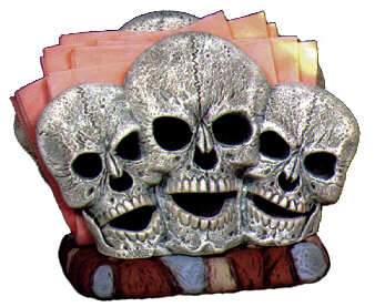 #2151 Human Skull Napkin Holder (1 side only)  6