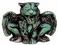 #2162 Gargoyle (Panther) (2 in mold)  3 3-4