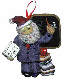 #2215 Ornament - Santa Teacher  3