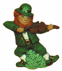 #2220 Irish Series - Leprechaun with Fiddle  3 1-2""