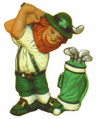 #2224 Irish Series - Leprechaun Golfing  3 1-2