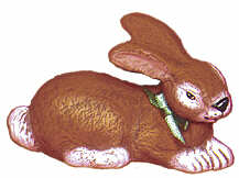 #2232 Bunny Series - Realistic Laying Rabbit  3""