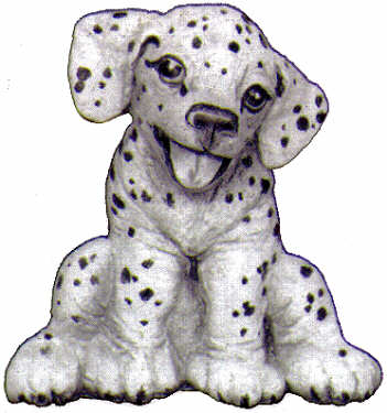 #2234 Playfull Pups - Sitting Pup  3 1-2
