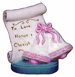 #2247 Scroll - Wedding Bell  3 1-2
