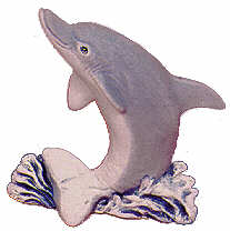 #2286 Sealife Ornament - Dolphin  2 3-4