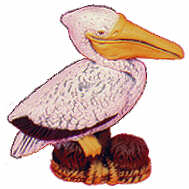 #2289 Sealife Ornament - Pelican  2 1-2