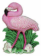 #2322 Sealife Ornament - Flamingo  3 1-4