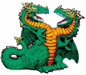 #2354 Two Headed Dragon  5 1-4""