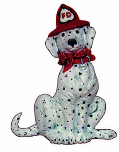#2356 Dalmatian with Fire Hat  6""