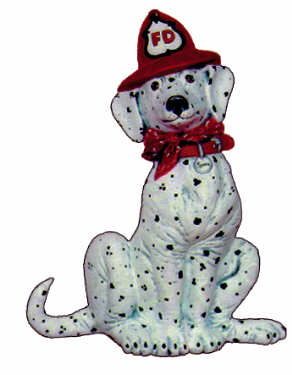 #2356 Dalmatian with Fire Hat  6