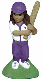 #2393 Girl Baseball Player  4