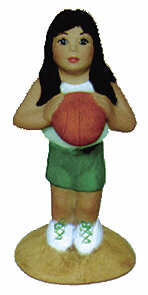 #2395 Girl Basketball 4""
