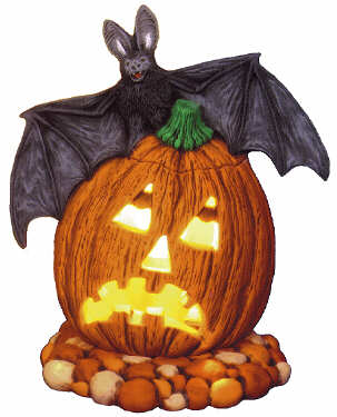 #2412 Pumpkin with Bat  7
