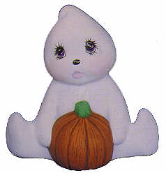 #2415 Ghost with Pumpkin Sitting  3 1-2