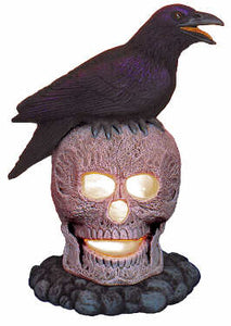 #2418 Skull and Raven  8""