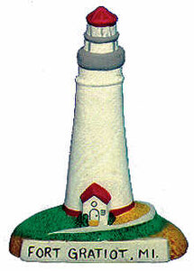 #2424 Small Lighthouse - Fort Gratiot, Mi  4""