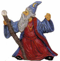 #2434 Mystical Ornament - Wizard with Staff  3