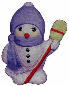 #2440 Snowman, with Broom  4""
