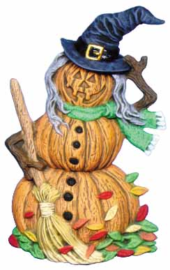 #2469 Pumpkin Person (Large) - Witch  6 1-2