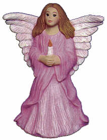 #2474 Angel Standing with Candle (Small)  4""