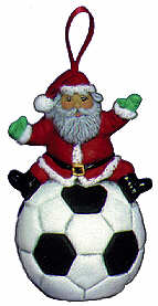 #2482 Sports Ornament - Santa Soccer  3""