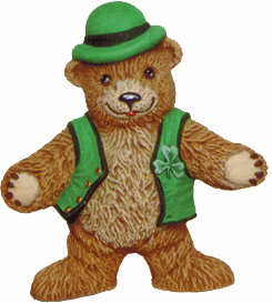 #2509 Teddy Bear Leprechaun Standing  4 3-4