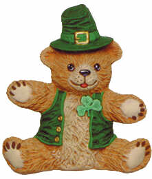 #2510 Teddy Bear Leprechaun Sitting  4 1-4