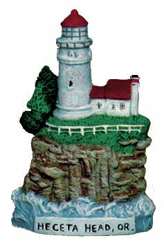 #2521 Small Lighthouse - Heceta Head, Or  4 1-4