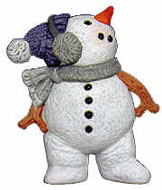 #2565 Little Snowman Standing Looking Up  3""