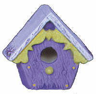 #2572 Mini Birdhouse - Victorian  2 1-4""