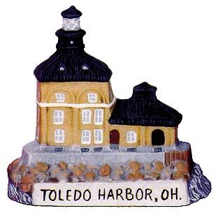 #2583 Small Lighthouse - Toledo Harbor, Oh  3 1-4
