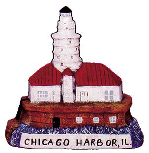 #2586 Small Lighthouse - Chicago Harbor, Il  3 1-4