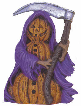 #2592 Pumpkin Person (Small) - Grim Reaper  4 1-2