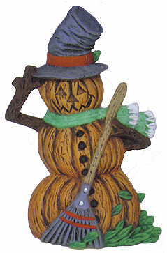 #2593 Pumpkin Person (Small) - Pumpkin Man  4 1-2