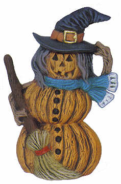 #2594 Pumpkin Person (Small) - Witch  4 1-2