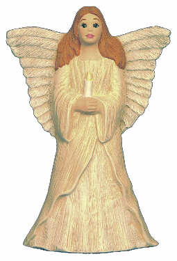 #2646 Angel Standing with Candle (Large)  6 1-2